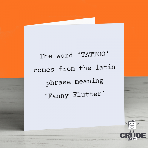 Rude Tattoo Lover Valentines Day Card | Crude Cards
